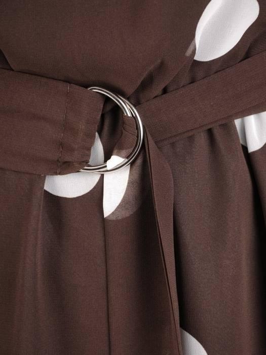 Elegancka sukienka damska, kreacja z modnym wiązaniem 27591