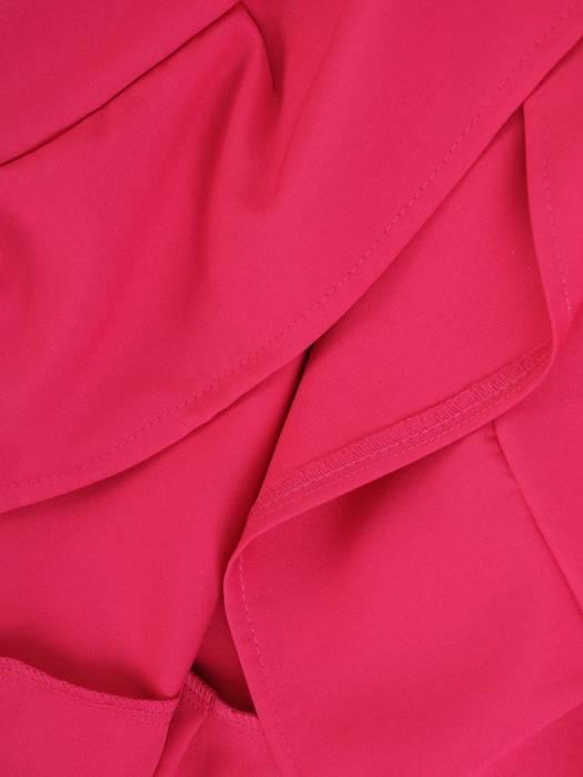 Elegancka sukienka kopertowa, modna kreacja z wiązaniem w pasie 26843