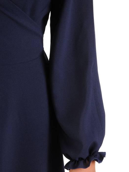 Elegancka sukienka maxi, kreacja z ozdobnymi rozcięciami na rękawach 27236