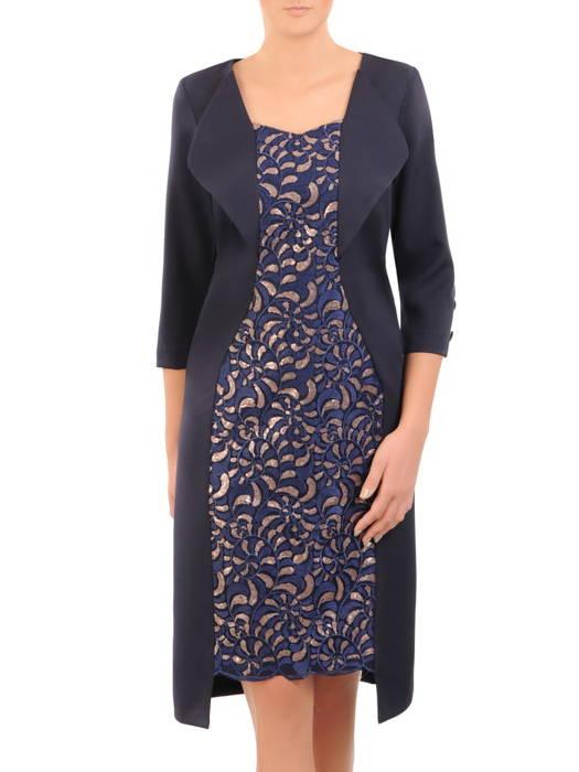 Elegancka sukienka na wyjście, kreacja w asymetrycznym fasonie 30821