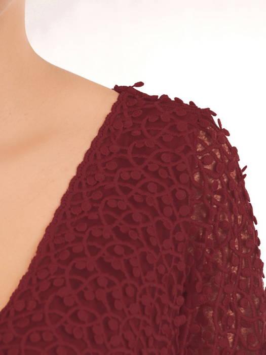 Elegancka sukienka o długości maxi w bordowym kolorze 30873
