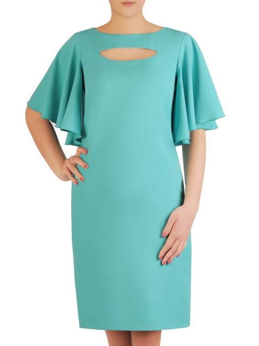 Elegancka sukienka z modnie wyciętym dekoltem 29152