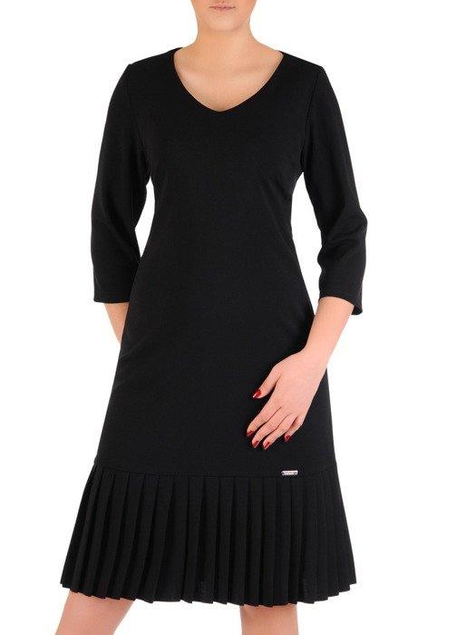 Elegancka sukienka z ozdobnymi pliskami 19559.