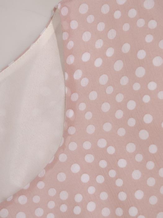 Elegancka sukienka z szyfonowym topem w groszki 21983