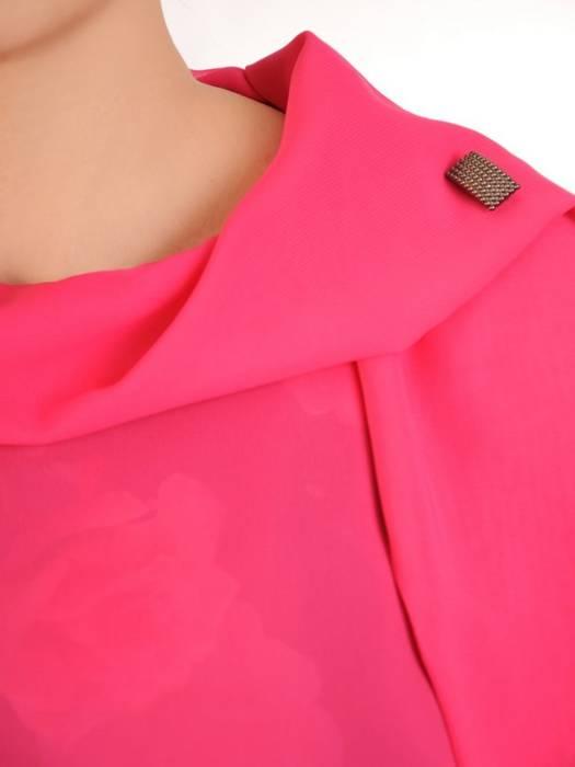 Elegancki komplet damski, kwiatowa sukienka z szyfonową bluzką 29909