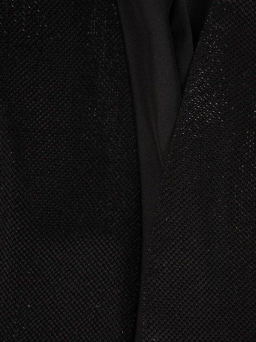 Elegancki żakiet z błyszczącej tkaniny 26007