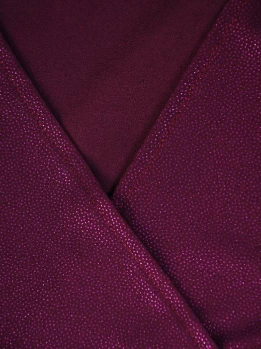 Fioletowa, połyskująca bluzka z przedłużanym tyłem 27968
