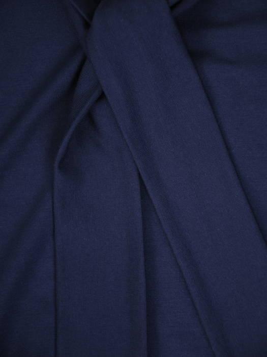 Granatowa bluzka z ozdobnym dekoltem 30938