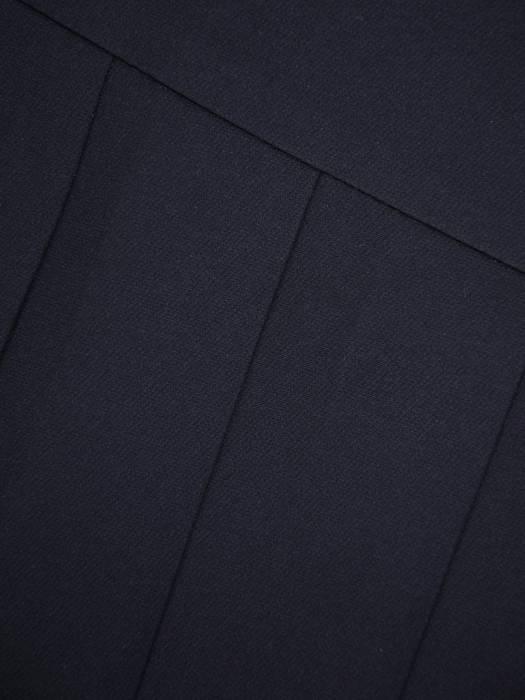 Granatowa spódnica z ozdobnymi plisami 27873