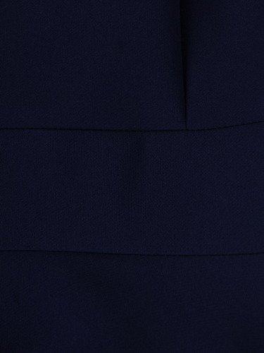 Granatowa sukienka z kontrastowym, pensjonarskim kołnierzem 15711.