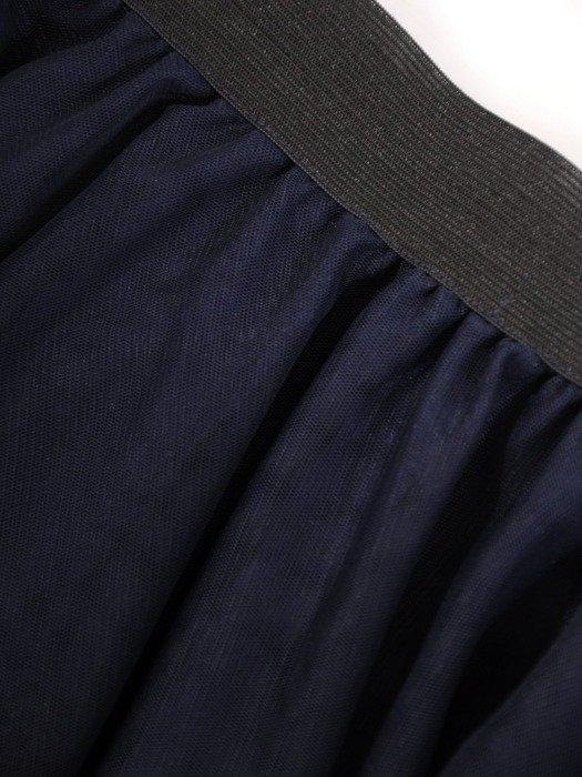 Granatowa tiulowa spódnica 24896