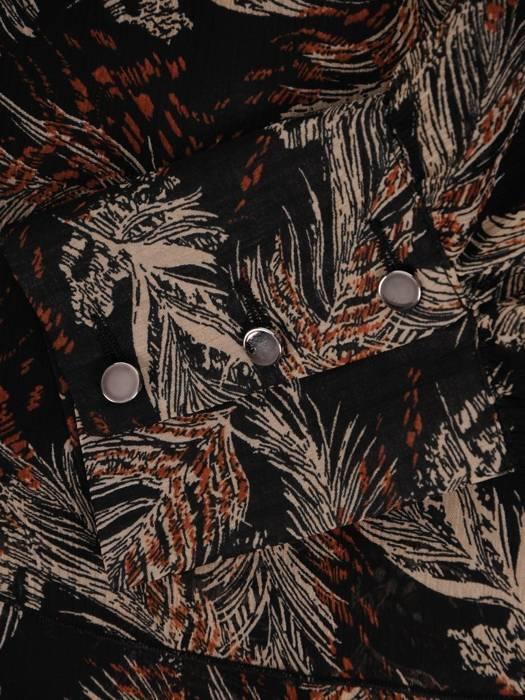 Jesienna sukienka maskująca biodra 27052