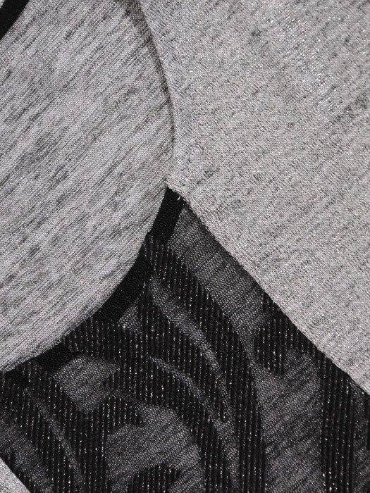 Kimonowa bluzka z błyszczącej dzianiny 18723