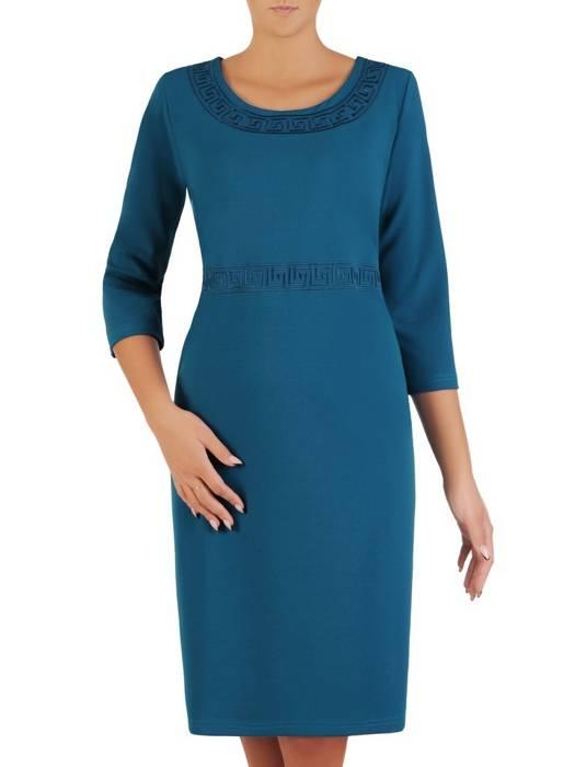 Klasyczna prosta sukienka z dzianiny 27406