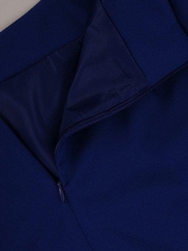 Klasyczna spódnica w kolorze chabrowym Helga IV.