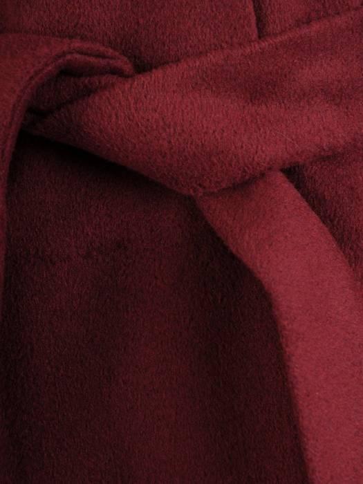 Klasyczny płaszcz damski jesienno zimowy w kolorze bordowym 27795