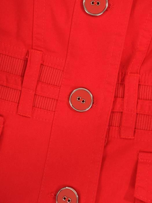 Kolekcja 28346, czerwone bawełniane żakiety i spódnica
