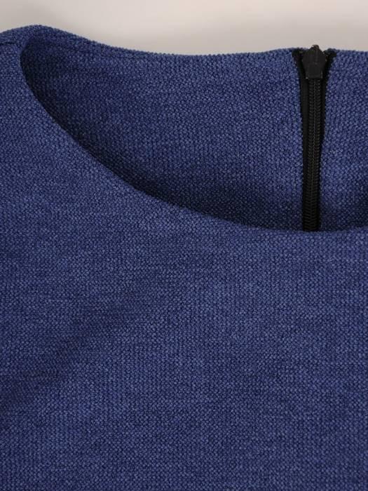 Komplet damski, chabrowa spódnica z bluzką 28228