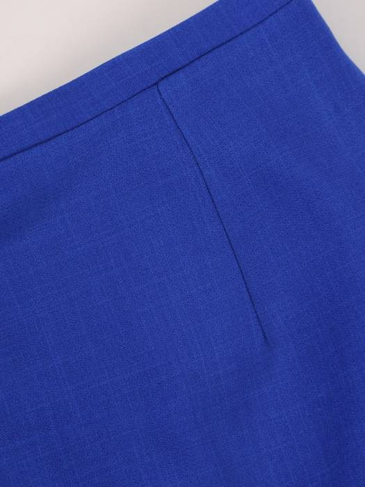 Komplet damski, chabrowa spódnica z bluzką 29781