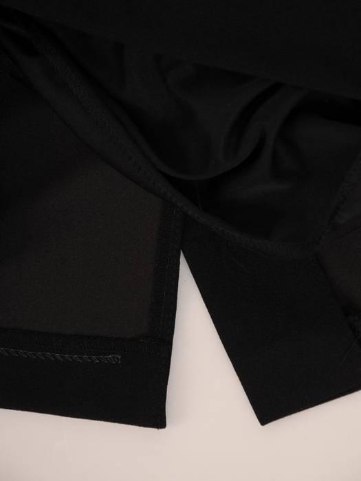 Komplet damski, czarna sukienka z oryginalnym bolerkiem 27038