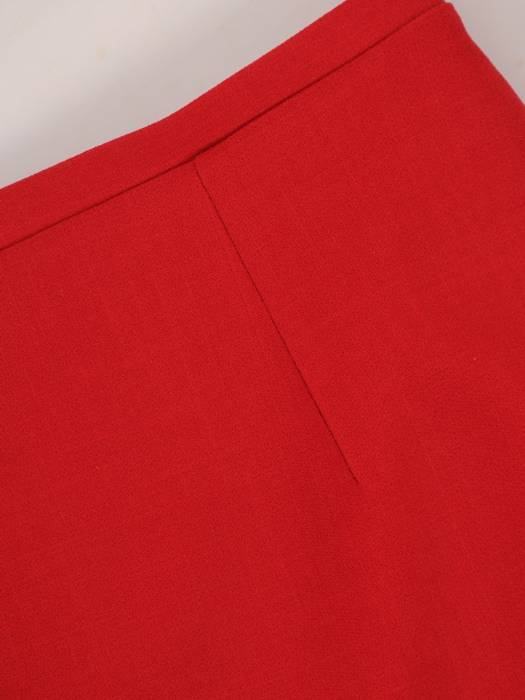 Komplet damski, czerwona spódnica z bluzką 29782