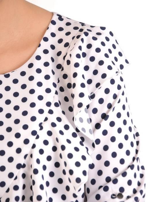 Komplet damski, elegancka tunika ze spodniami z szeroką nogawką 28867