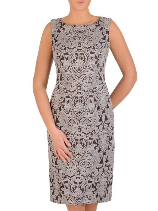 Komplet damski, prosta sukienka z krótkim bolerkiem 28313