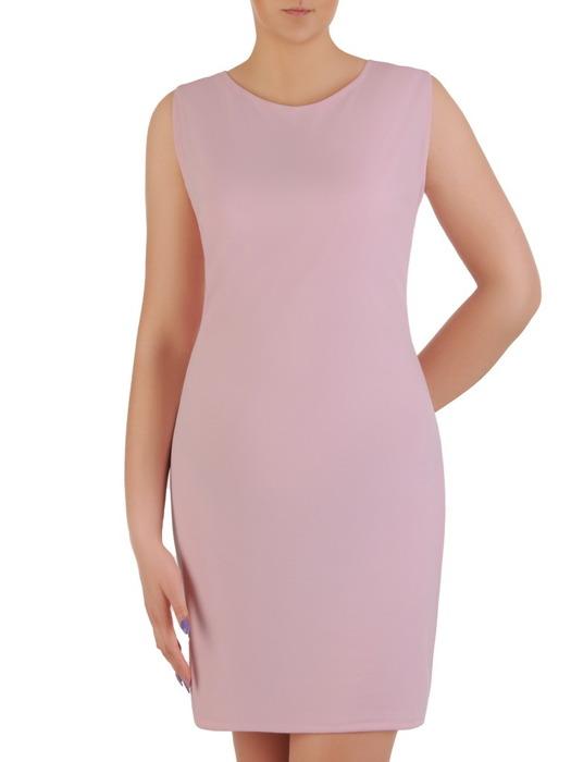 Komplet damski, prosta sukienka z luźną koronkową narzutką 20452.