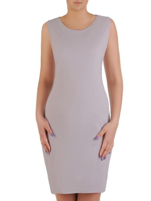 Komplet damski, prosta sukienka z luźną koronkową narzutką 20453.