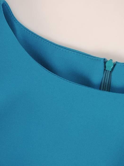 Komplet damski z szyfonową, asymetryczną bluzką 29384