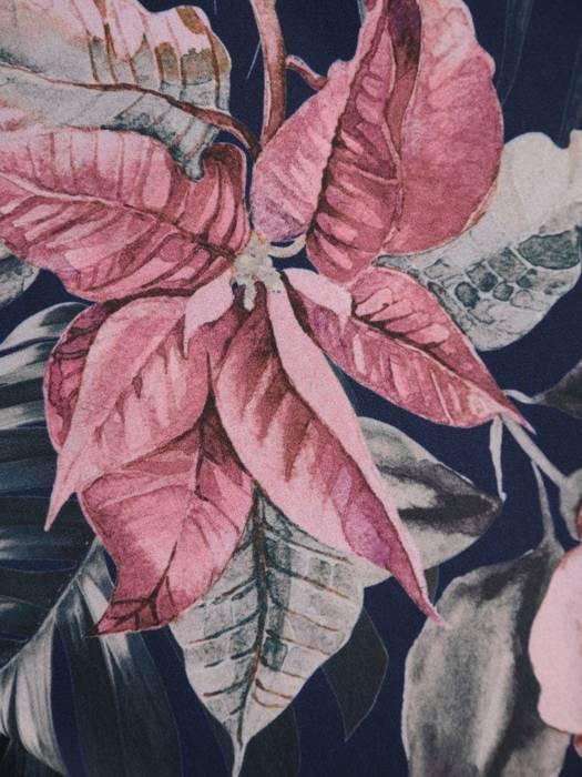 Kopertowa sukienka w kwiaty, kreacja ze zwiewnego szyfonu 29797