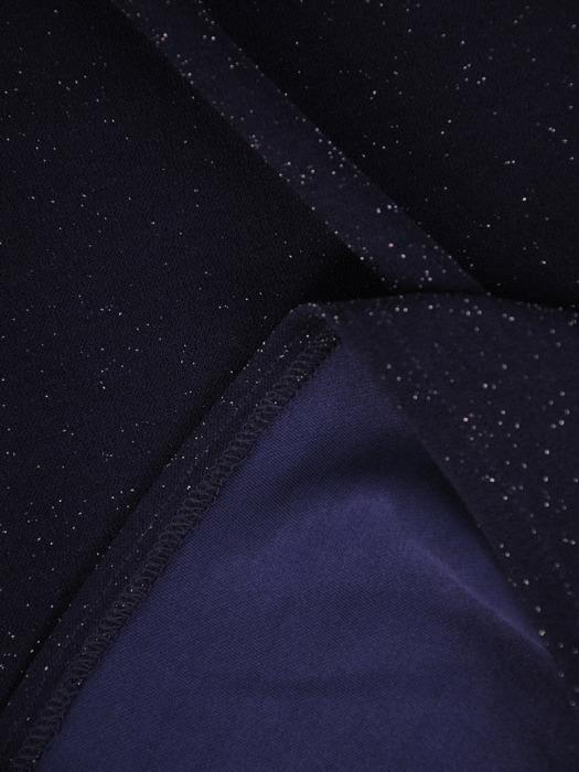 Kopertowa sukienka wizytowa, kreacja z połyskującej dzianiny 22408