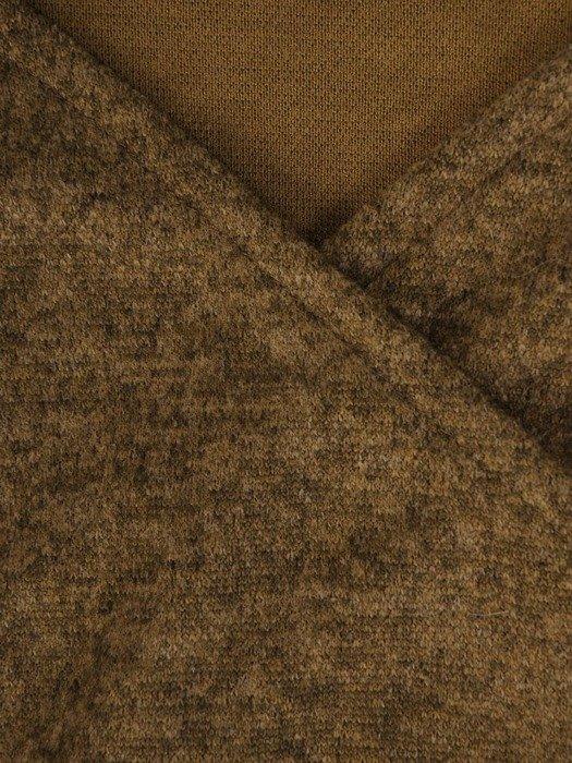 Kopertowa sukienka z melanżowej dzianiny 24124