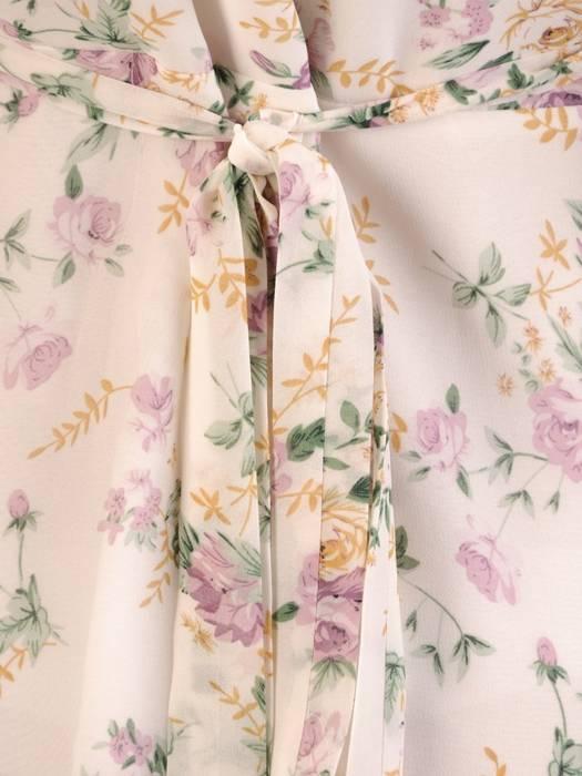 Kopertowa sukienka z ozdobnymi rozcięciami na rękawach 28986