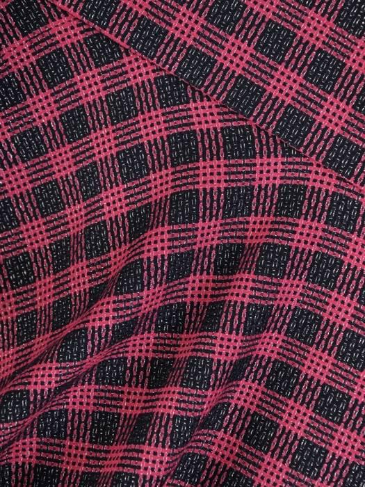 Kostium damski, amarantowa sukienka z żakietem 28858