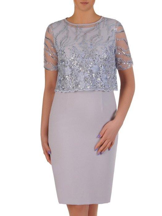 Kostium damski, elegancka sukienka z koronkowym bolerkiem 20176.