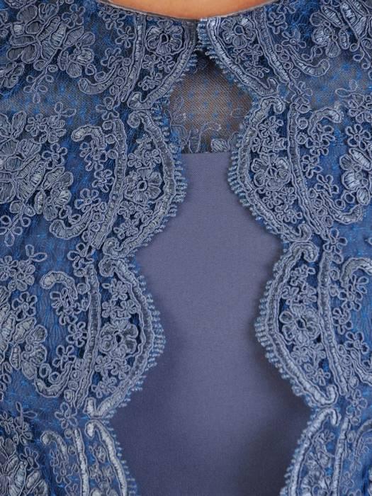 Kostium damski, elegancka sukienka z koronkowym żakietem 26387