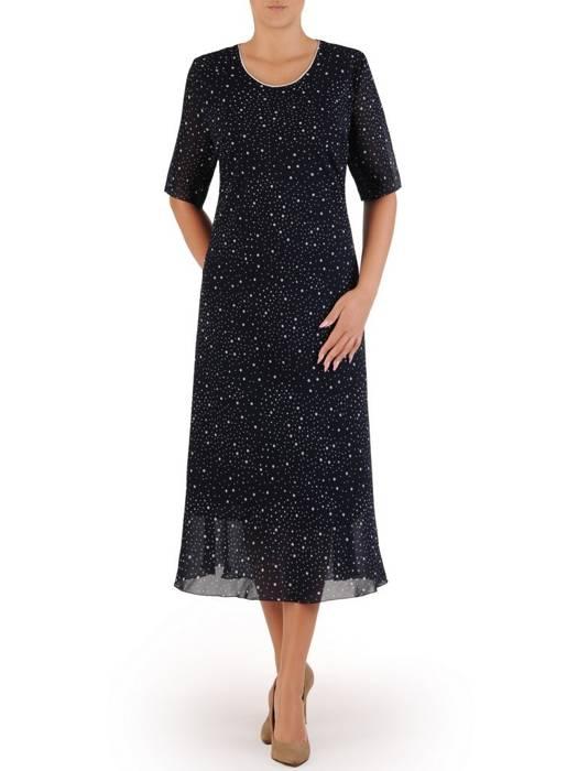 Kostium damski, elegancka sukienka z żakietem 26503