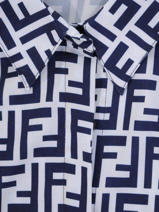 Koszula damska w geometrycznym wzorze 26555