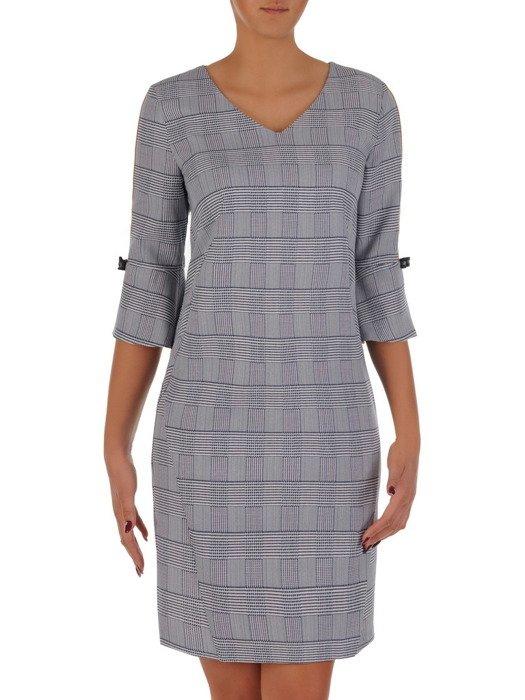 Kraciasta sukienka z kolorowymi wstawkami 18400.