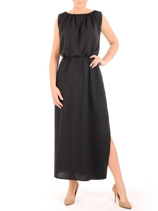 Letnia sukienka maxi, kreacja z drapowanym dekoltem 30300