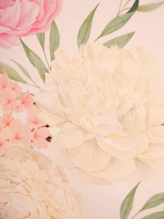 Luźna sukienka w kwiaty, kreacja z ozdobnie wyciętym dekoltem na plecach 29989