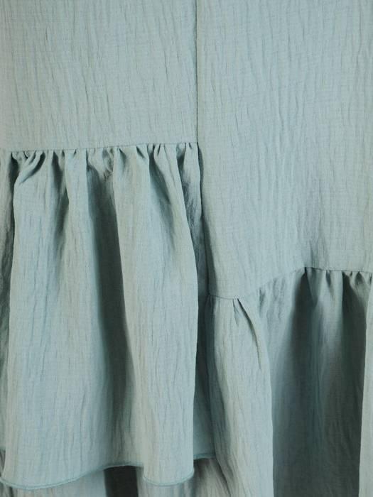 Luźna sukienka z bawełny, kreacja z falbanami 30370