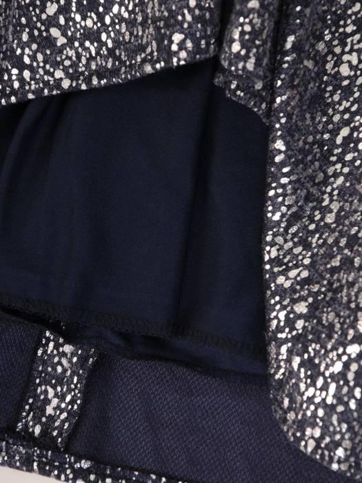 Luźna sukienka z kontrafałdą, oryginalna kreacja z golfem 27615