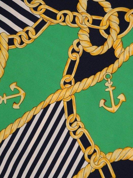 Luźna tunika w kontrastowe paski i wzór 24954