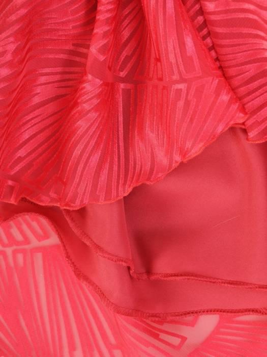 Malinowa kreacja z szyfonu, elegancka sukienka na wesele 29795