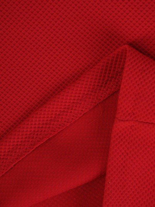 Malinowa sukienka o prostym kroju, modna kreacja z dzianiny 24621
