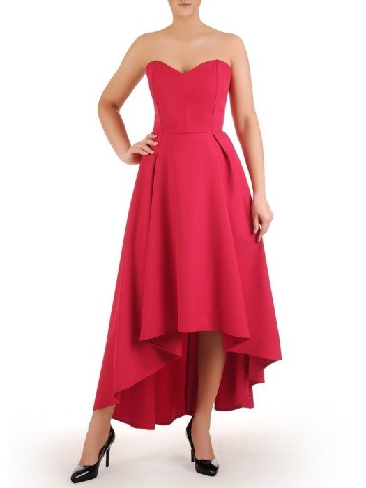 Malnowa sukienka gorsetowa, kreacja z dłuższym tyłem 24912