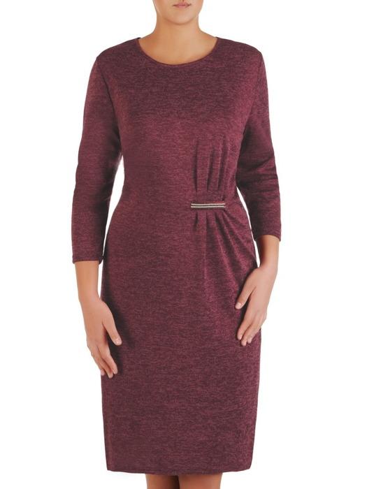 Melanżowa sukienka z wyszczuplającą wstawką w talii 22335