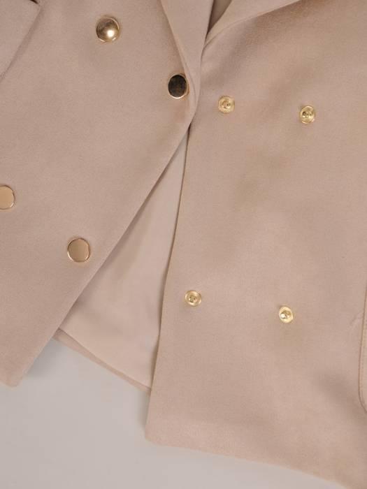 Modna krótka kurtka z kieszeniami 28773